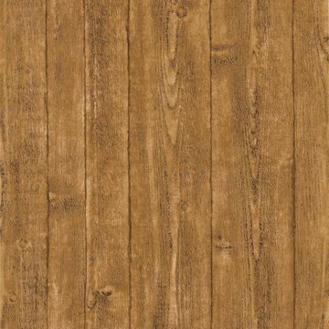 Picture of Orchard Brown Wood Panel Wallpaper