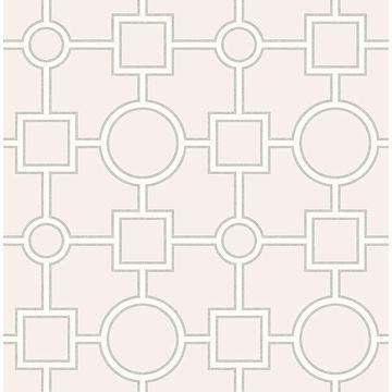 Picture of Matrix Light Grey Geometric Wallpaper
