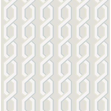 Picture of Twist Grey Geometric Wallpaper