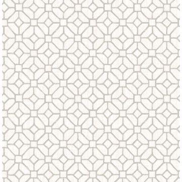 Picture of Gigi Light Grey Geometric Wallpaper