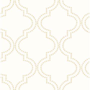 Picture of Tetra Cream Quatrefoil Wallpaper