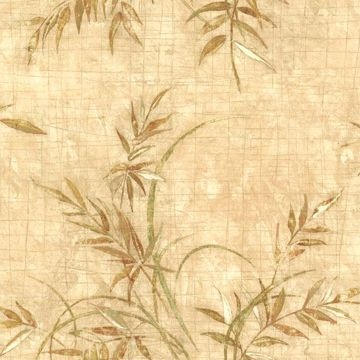 Picture of Kazumi Taupe Bamboo Texture Wallpaper
