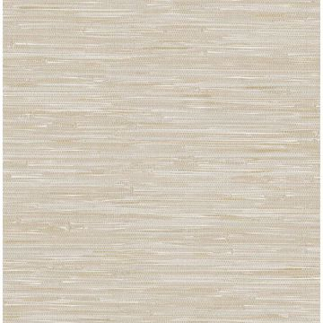 Picture of Natalie Beige Faux Grasscloth Wallpaper