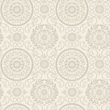 Picture of Annabel Grey Medallion Wallpaper