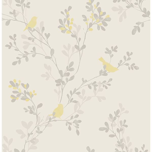 Picture of Chirp Yellow Bird Wallpaper