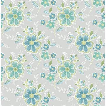 Picture of Chloe Green Floral Wallpaper