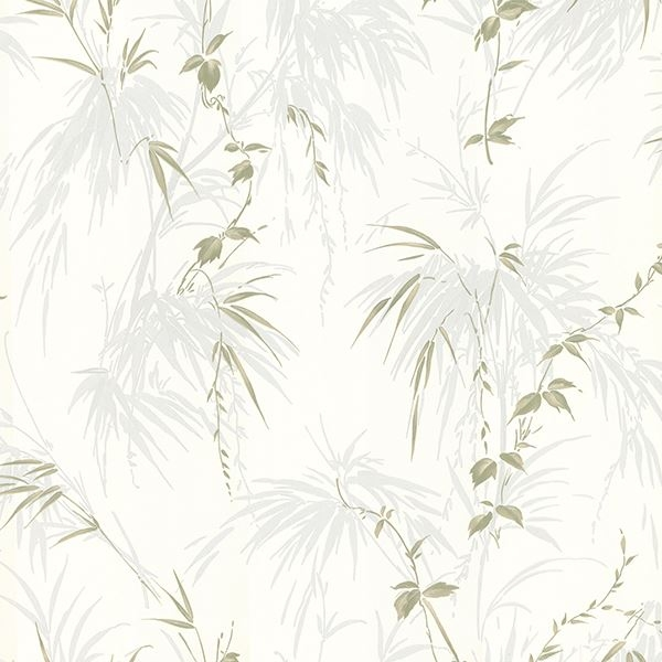 Picture of Zumi Blue Palm Leaves Wallpaper
