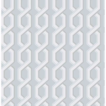 Picture of Twist Blue Geometric Wallpaper