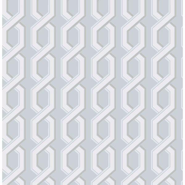 Picture of Twist Blue Geometric Wallpaper