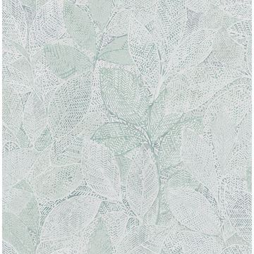 Picture of Niabi Green Leaves Wallpaper