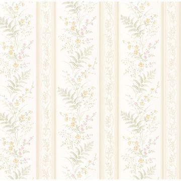 Picture of Bell Beige Wildflower Stripe Wallpaper