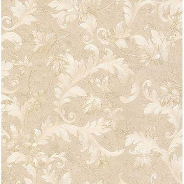 Picture of Dimitri Beige Scroll Wallpaper