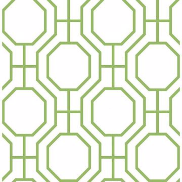 Picture of Circuit Green Modern Ironwork Wallpaper