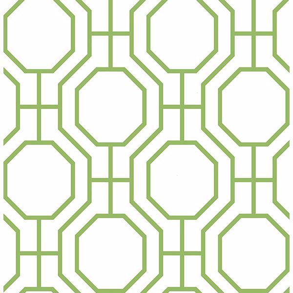 Picture of Circuit Green Modern Ironwork Wallpaper