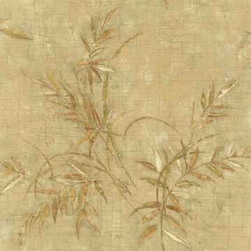 Picture of Kazumi Olive Bamboo Texture Wallpaper