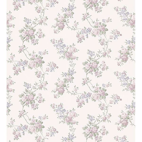 Picture of Gretchen Pastel Floral Trail Wallpaper