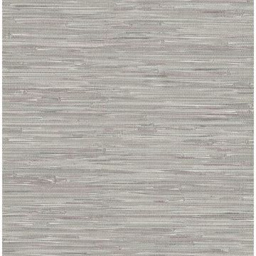 Picture of Natalie Grey Faux Grasscloth Wallpaper
