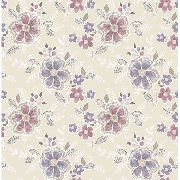 Picture of Chloe Purple Floral Wallpaper
