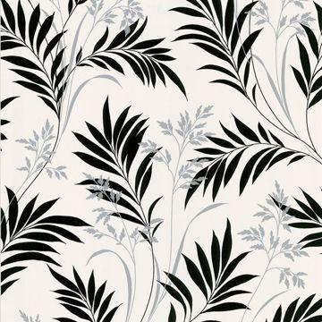 Picture of Midori White Bamboo Silhouette Wallpaper