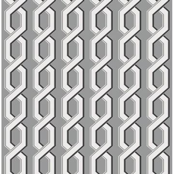 Picture of Twist Black Geometric Wallpaper