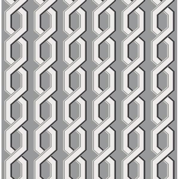 Picture of Twist Black Geometric Wallpaper