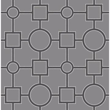 Picture of Matrix Black Geometric Wallpaper
