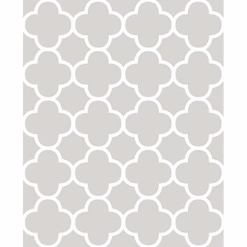 Picture of Origin Grey Quatrefoil Wallpaper