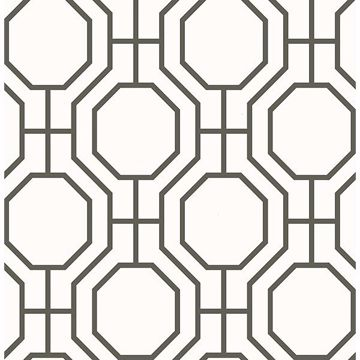 Picture of Circuit Black Modern Ironwork Wallpaper