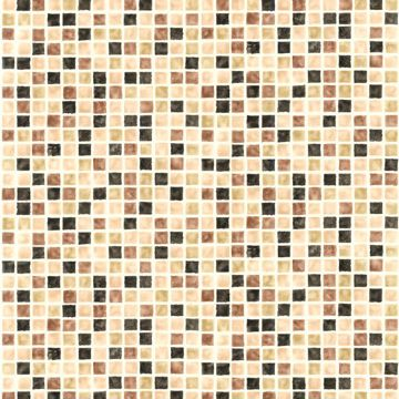 Picture of Harbor Brown Sea Glass Tiles Wallpaper