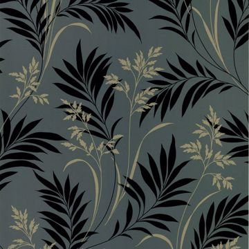 Picture of Midori Black Bamboo Silhouette Wallpaper