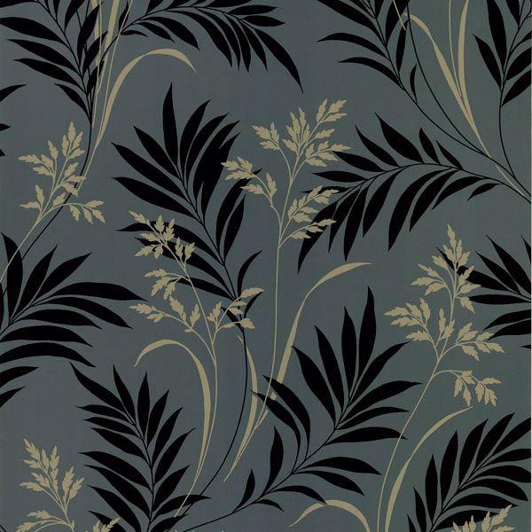 Picture of Midori Black Bamboo Silhouette Wallpaper