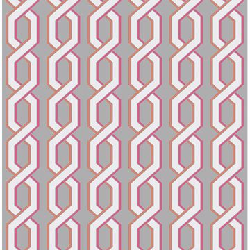 Picture of Twist Pink Geometric Wallpaper