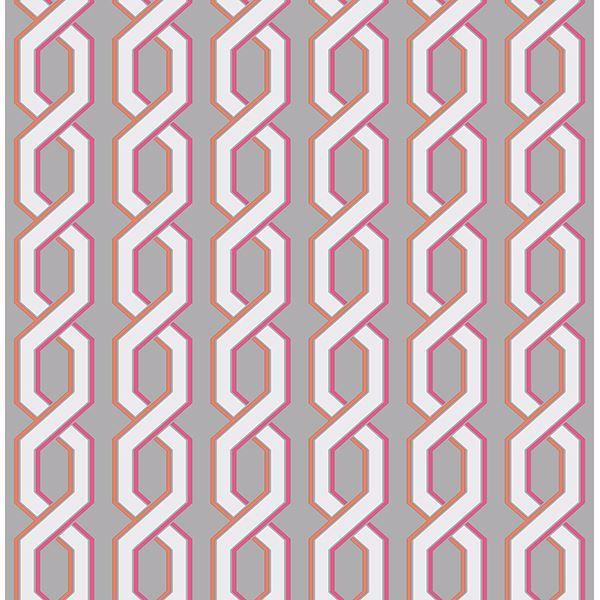 Picture of Twist Pink Geometric Wallpaper