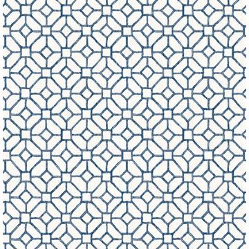 Picture of Gigi Navy Geometric Wallpaper