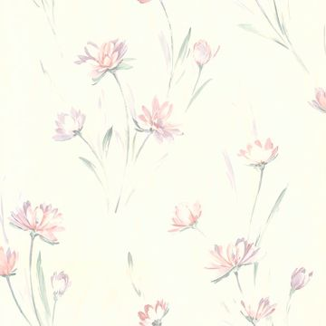 Picture of Gloria Peach Floral Wallpaper