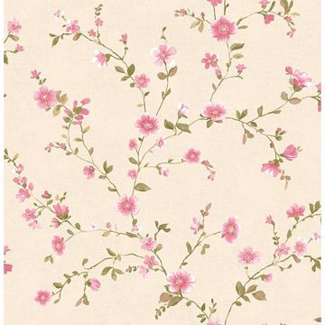 Picture of Delphine Pink Floral Trail Wallpaper