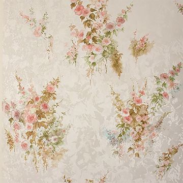 Picture of Quinn Peach Bouquet Floral Wallpaper