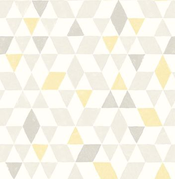 Picture of Scandi Yellow Triangles Wallpaper