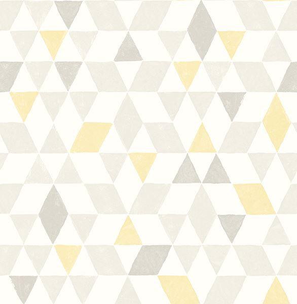 0020330 scandi yellow triangles wallpaper 600