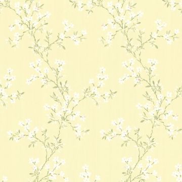 Picture of Claire Yellow Jasmine Trail Wallpaper