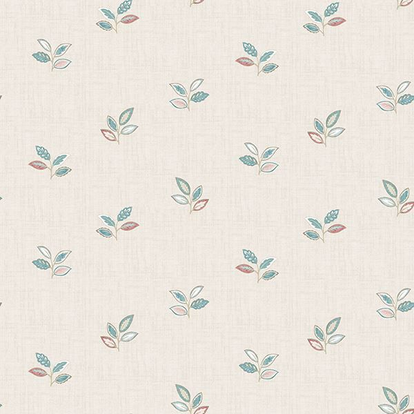 Picture of Leigh Coral Leaf Wallpaper