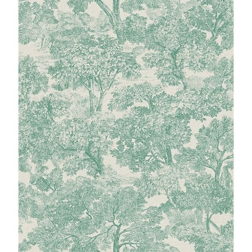 Picture of Blyth Teal Toile Wallpaper