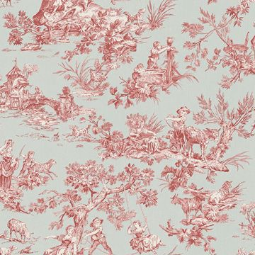 Picture of Whitney Turquoise Toile Wallpaper