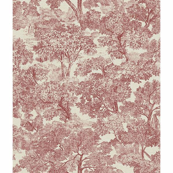 Picture of Blyth Red Toile Wallpaper