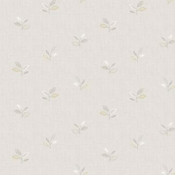 Picture of Leigh Grey Leaf Wallpaper