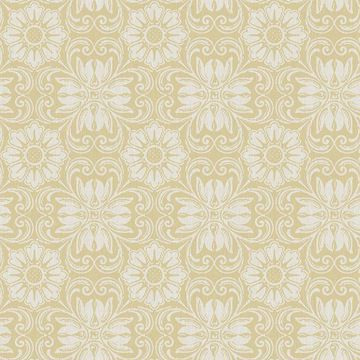 Picture of Hessle Yellow Floral Wallpaper