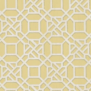 Picture of Adlington Yellow Geometric Wallpaper