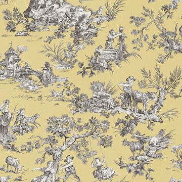 Picture of Whitney Yellow Toile Wallpaper