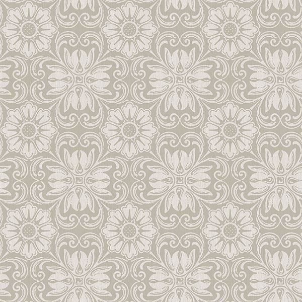 Picture of Hessle Grey Floral Wallpaper