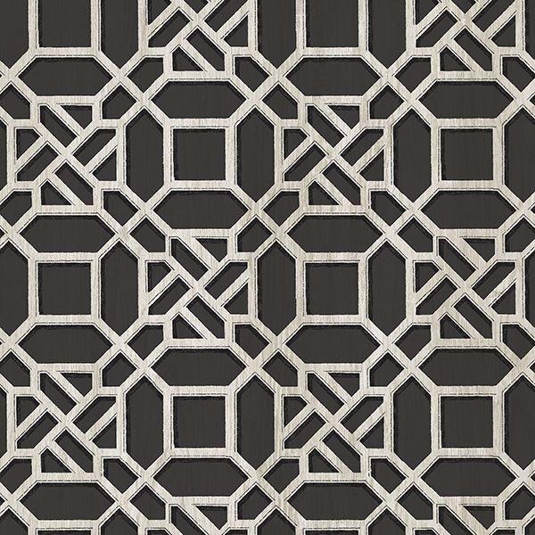 Picture of Adlington Black Geometric Wallpaper